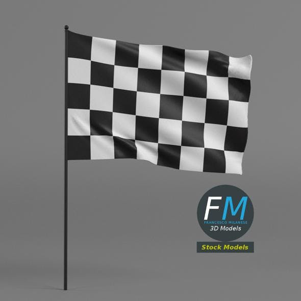 Checkered racing flag - 3DOcean Item for Sale