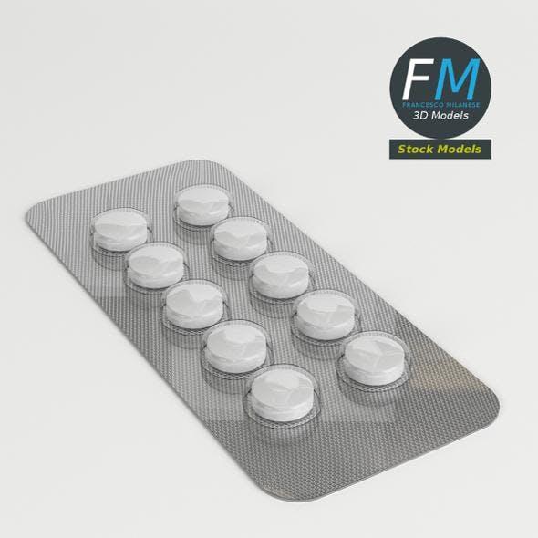 Circular pills in blister pack - 3DOcean Item for Sale