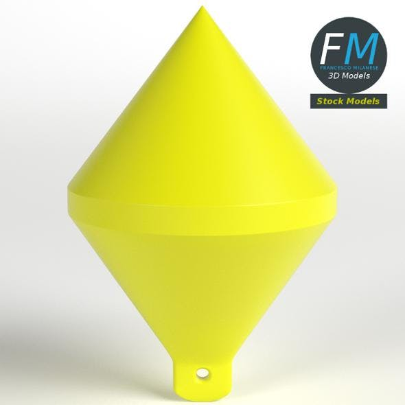 Conic marker buoy - 3DOcean Item for Sale