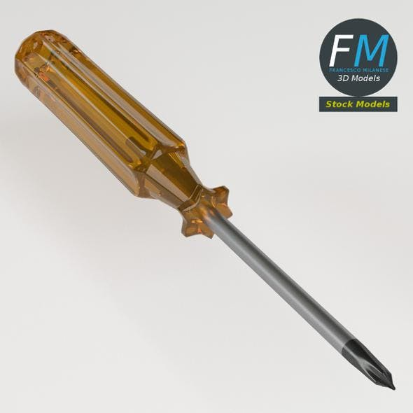 Cross section screwdriver - 3DOcean Item for Sale