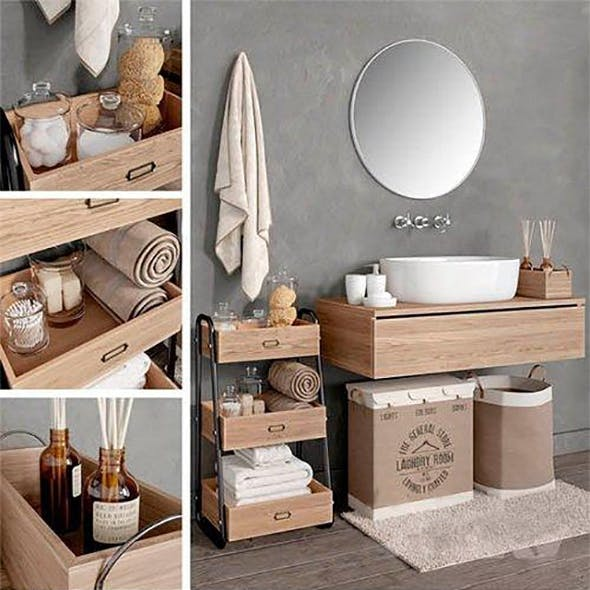 Bathroom Set - 3DOcean Item for Sale