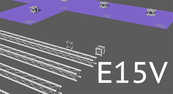 Prolyte E15V light square trusses - 3DOcean Item for Sale
