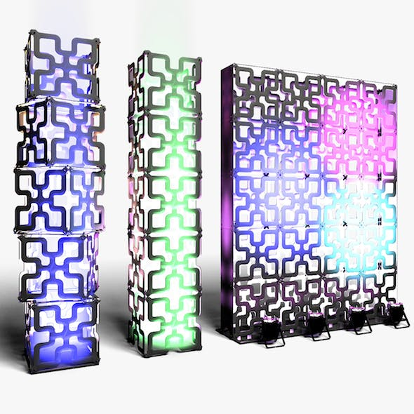 Stage Decor 05 Modular Wall Column - 3DOcean Item for Sale