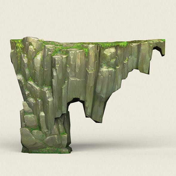 Game Ready Stone Cliff 14 - 3DOcean Item for Sale