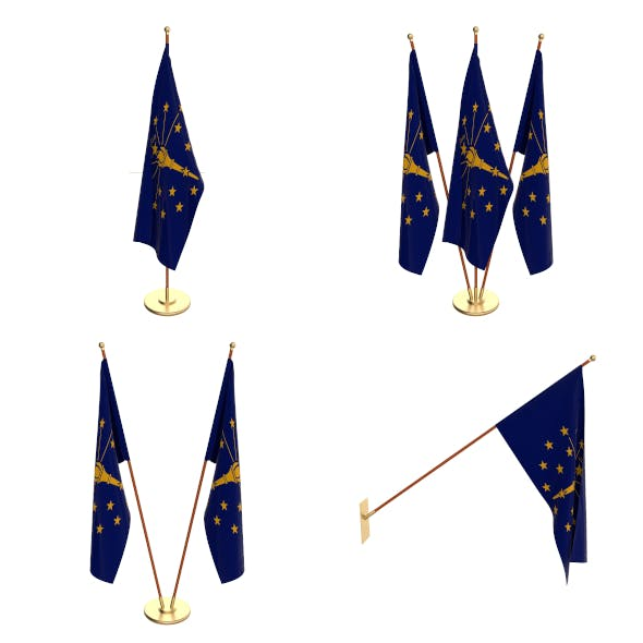 Indiana Flag Pack - 3DOcean Item for Sale