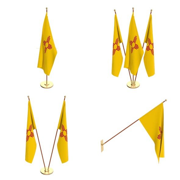 New Mexico Flag Pack - 3DOcean Item for Sale