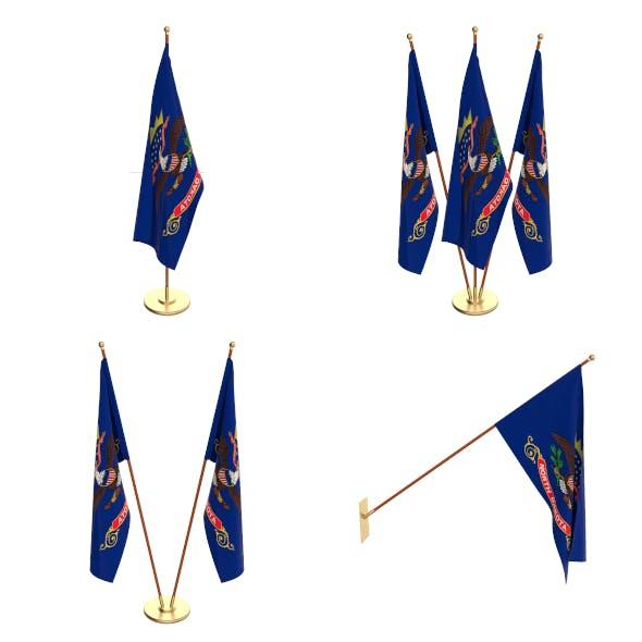 North Dakota Flag Pack - 3DOcean Item for Sale