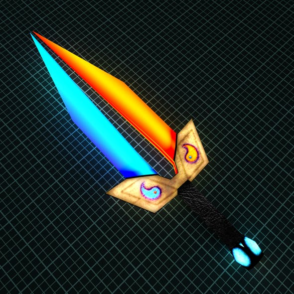 3D Fantastic sword Ice and Fire - 3DOcean Item for Sale