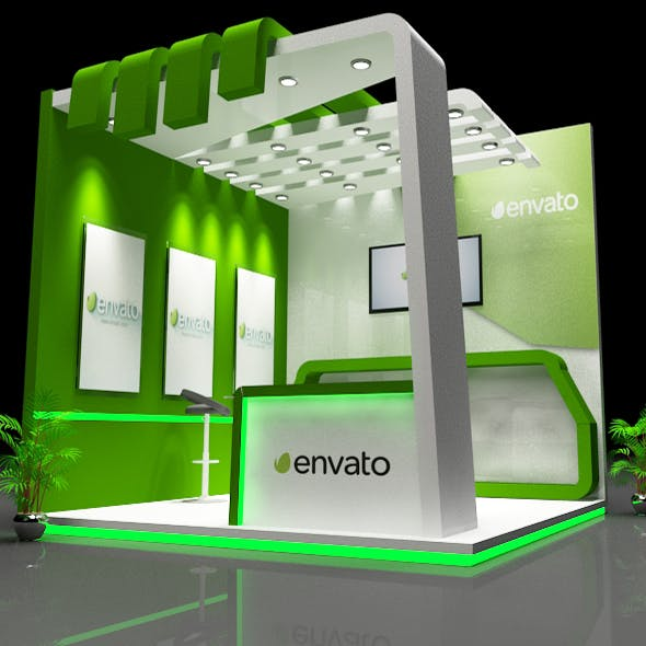 Booth 5 x 4 x 4 m - 3DOcean Item for Sale