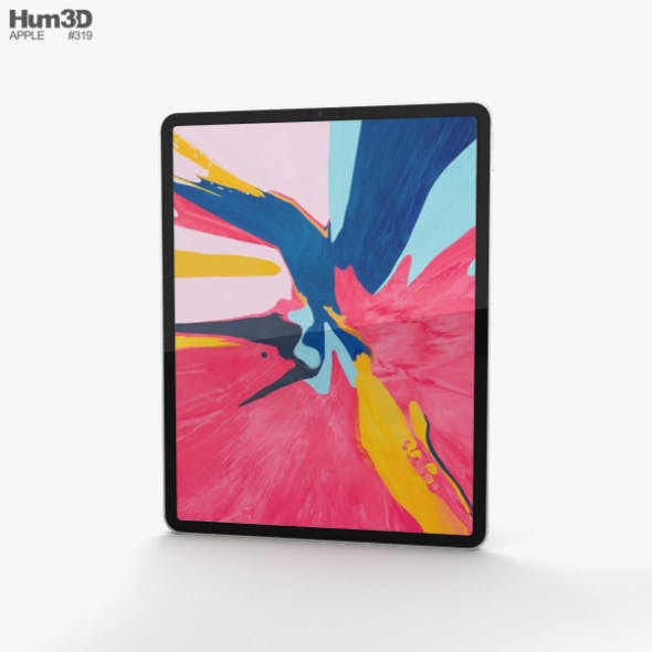 Apple iPad Pro 12.9-inch (2018) Silver - 3DOcean Item for Sale