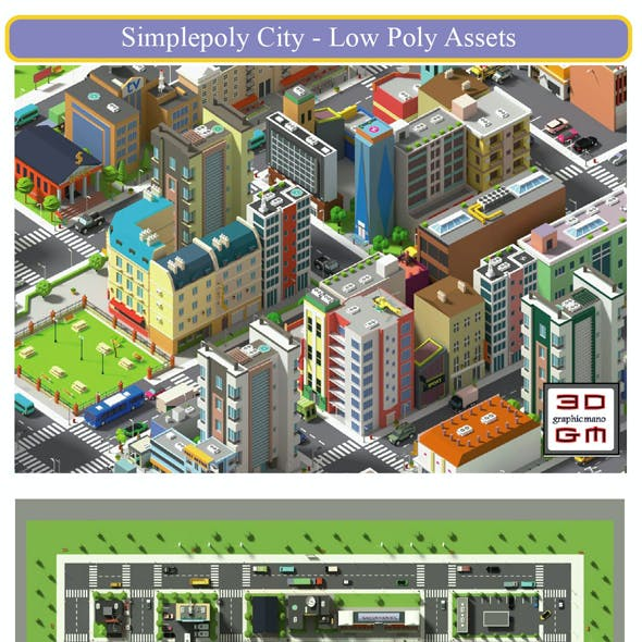 SimplePoly City - Low Poly Assets Low-poly 3D model Low-poly