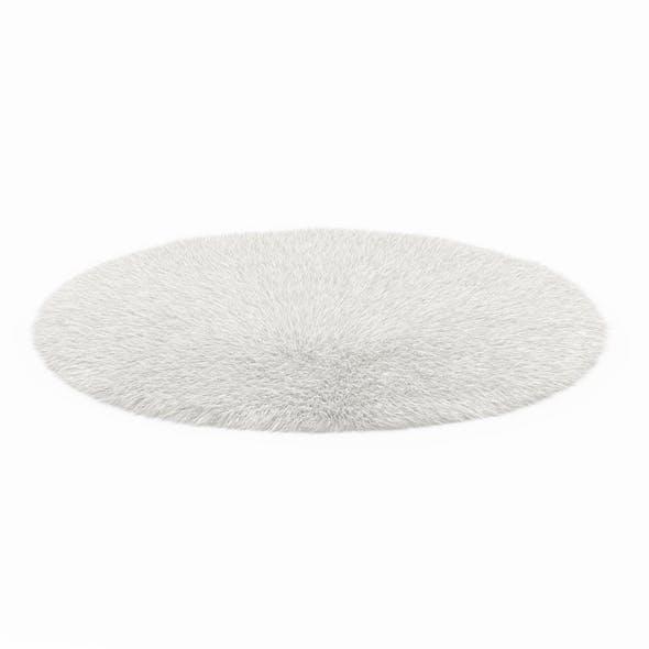 Round White Sheepskin Rug