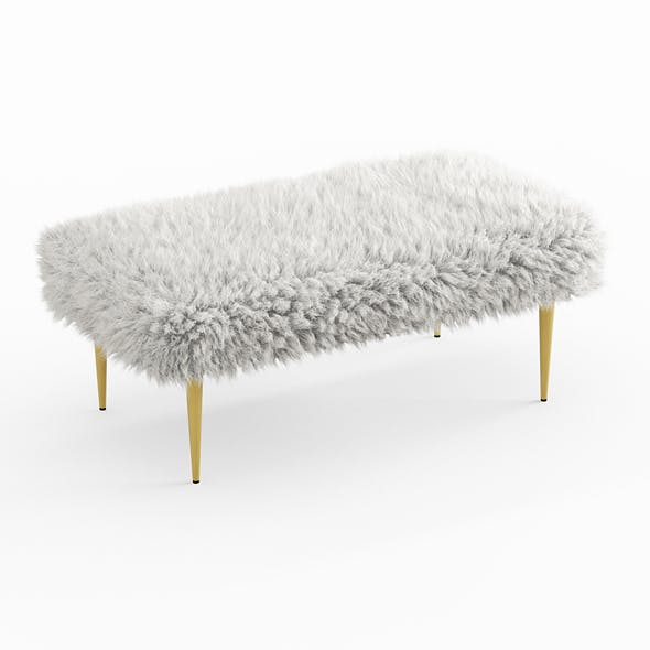 French Faux Fur Bench - 3DOcean Item for Sale