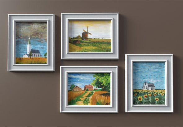 Landscape Panting_set - 3DOcean Item for Sale