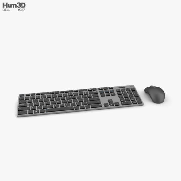 Dell Premier Wireless Keyboard and Mouse - 3DOcean Item for Sale