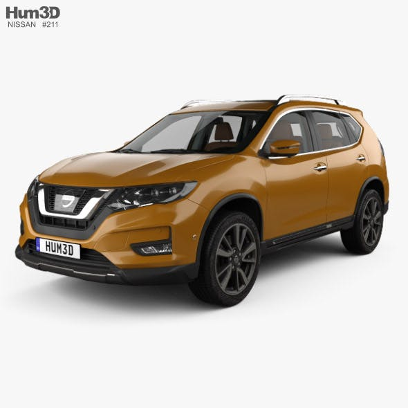 Nissan X-Trail with HQ interior 2017 - 3DOcean Item for Sale