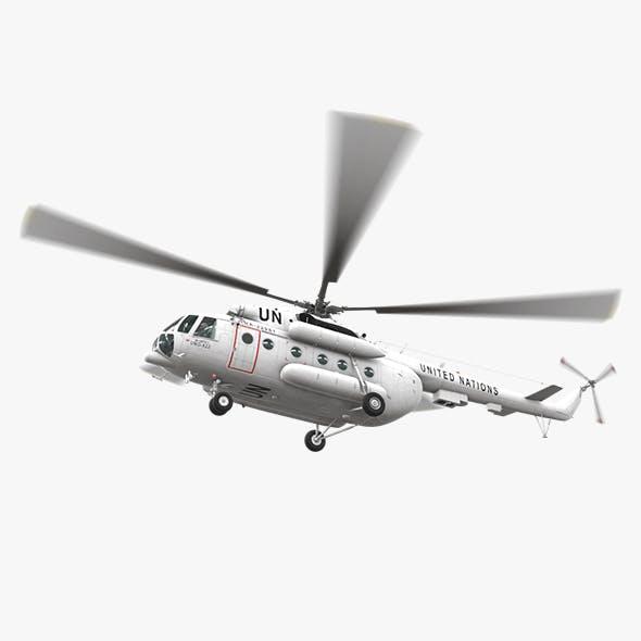 Mi-8MTV United Nations Animated