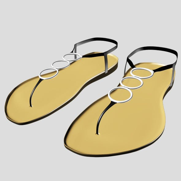 Thong Flat Sandals 01 - 3DOcean Item for Sale