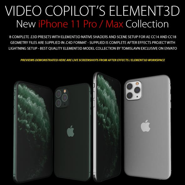 Element3D - iPhone 11 Pro / Max Collection