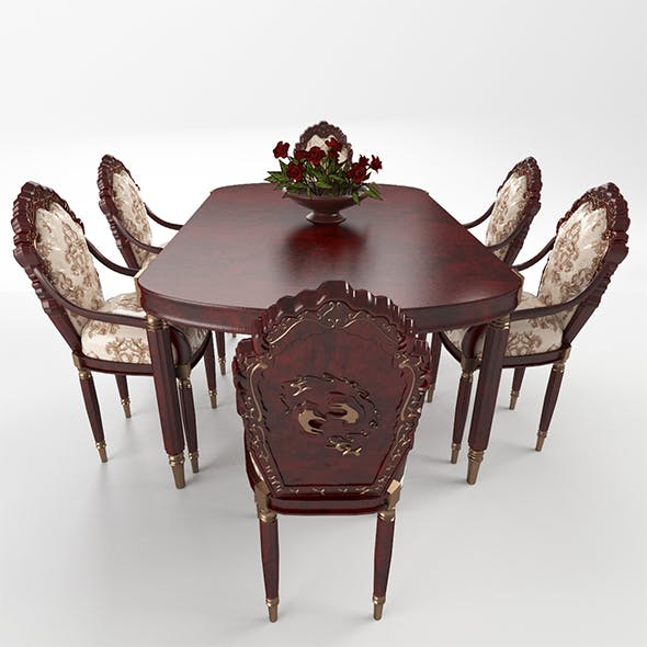 table_chairs_set_155 - 3DOcean Item for Sale