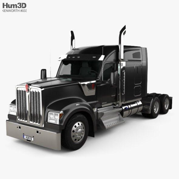Kenworth W990 72-inch Sleeper Cab Tractor Truck 2018