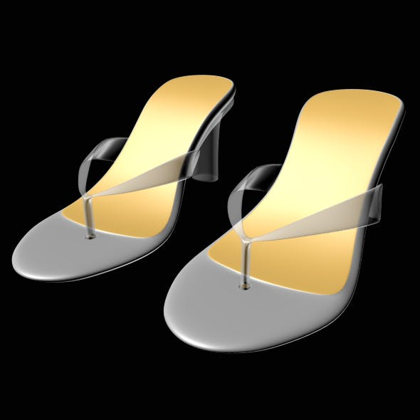 Thong Heel Sandals 01 - 3DOcean Item for Sale