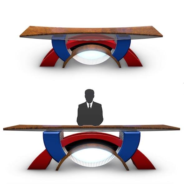 Virtual Tv Studio News Desk 2