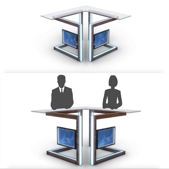 TV Studio News Desk 3 - 3DOcean Item for Sale