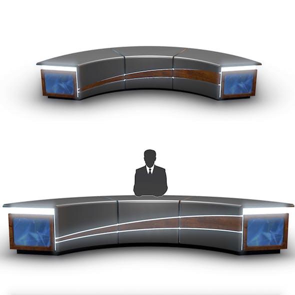 TV Studio News Desk 4
