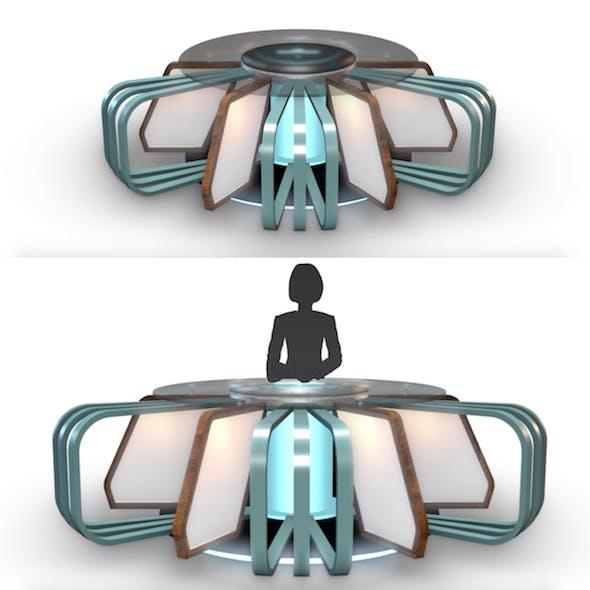 TV Studio News Desk 7 - 3DOcean Item for Sale