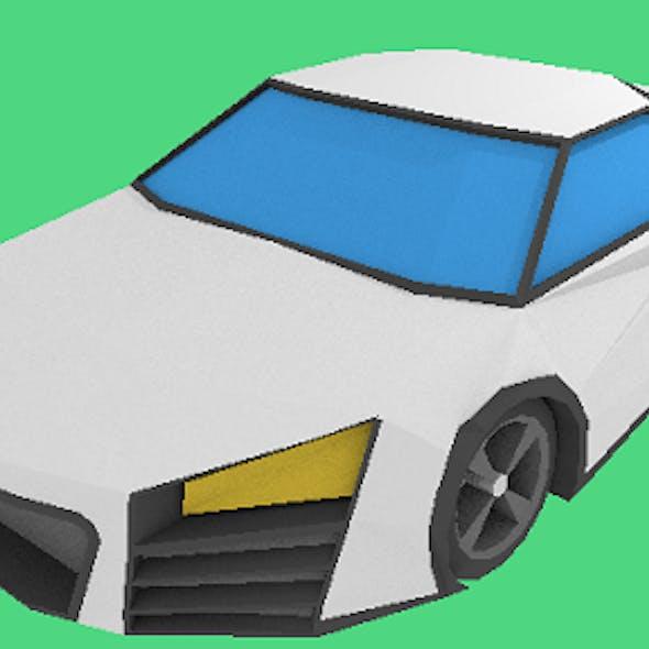 Low Poly R8 sports car