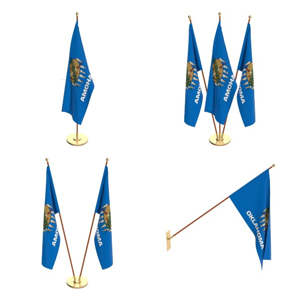 Oklahoma Flag Pack - 3DOcean Item for Sale