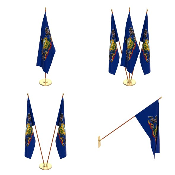 Pennsylvania Flag Pack - 3DOcean Item for Sale