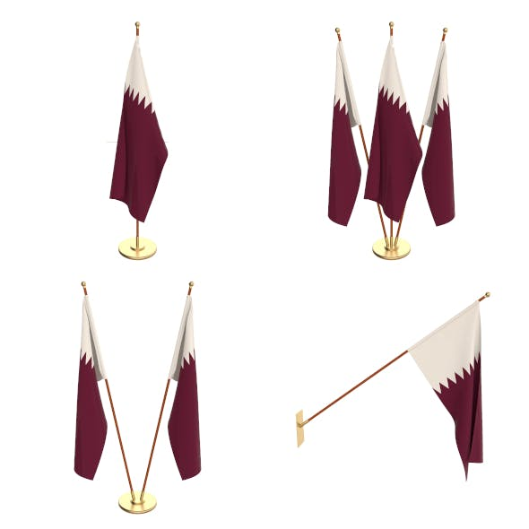 Qatar Flag Pack - 3DOcean Item for Sale