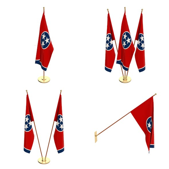 Tennessee Flag Pack - 3DOcean Item for Sale