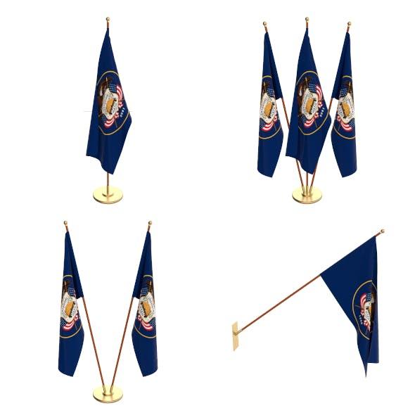 Utah Flag Pack - 3DOcean Item for Sale
