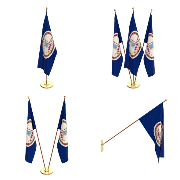 Virginia Flag Pack - 3DOcean Item for Sale