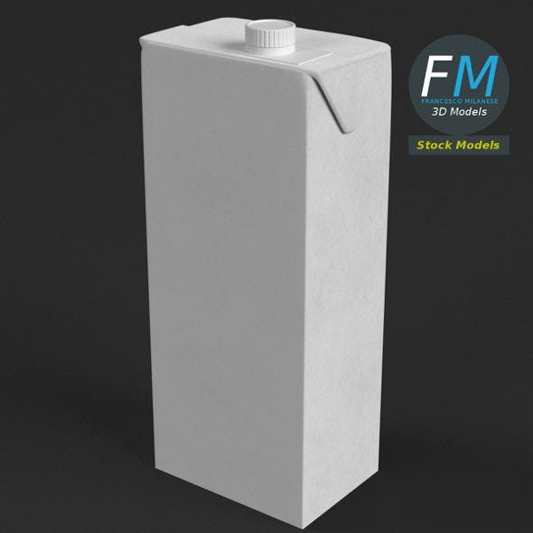 Drink carton with screw top - 3DOcean Item for Sale