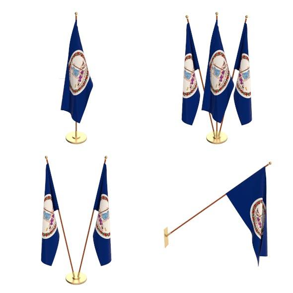 West Virginia Flag Pack - 3DOcean Item for Sale