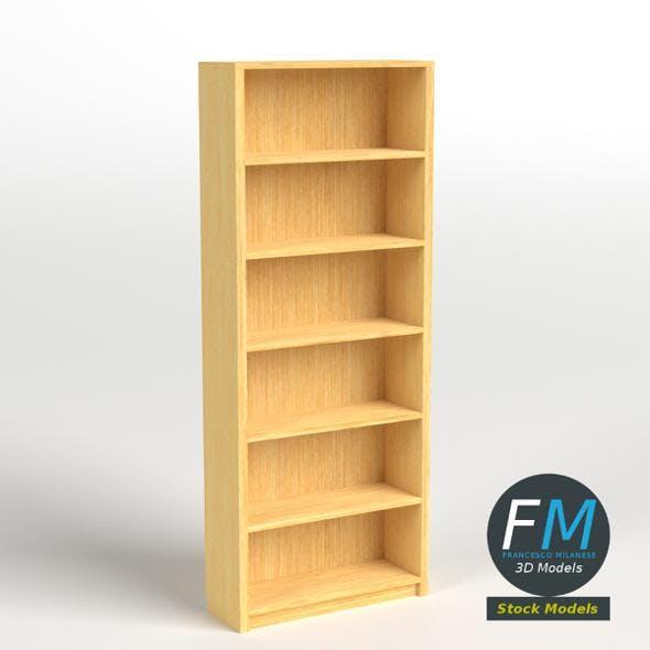 Empty bookshelf 1 - 3DOcean Item for Sale