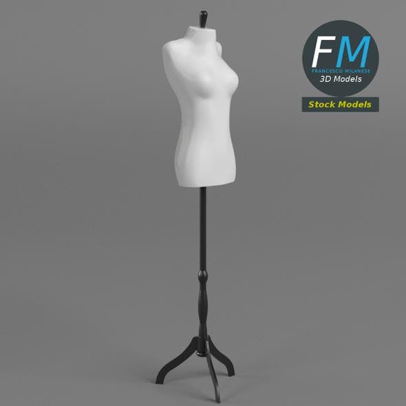Female mannequin on stand - 3DOcean Item for Sale