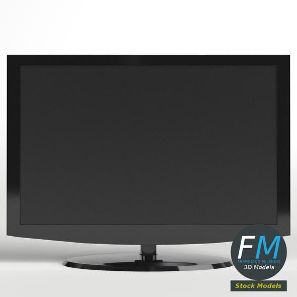 Flat wide TV