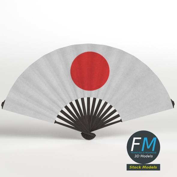 Folding hand fan - 3DOcean Item for Sale