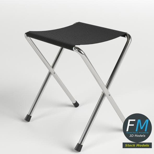 Folding stool 1 - 3DOcean Item for Sale