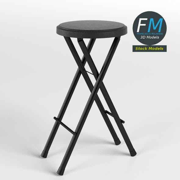 Folding stool 3 - 3DOcean Item for Sale