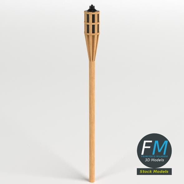 Garden Torch 1 - 3DOcean Item for Sale