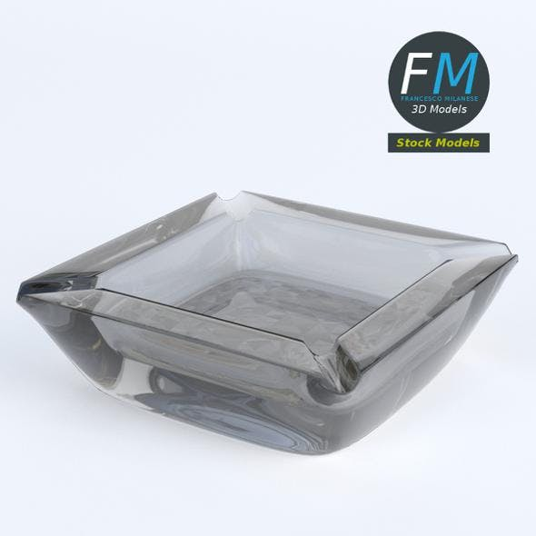 Glass ashtray - 3DOcean Item for Sale