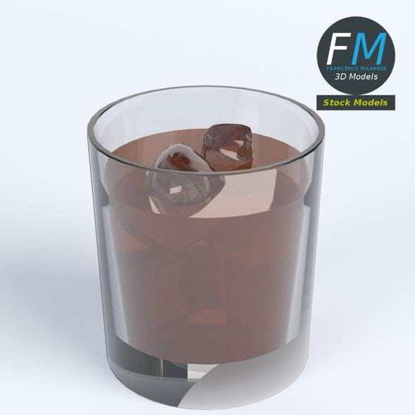 Glass of whiskey with ice - 3DOcean Item for Sale