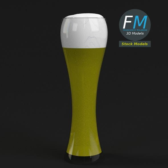 Glass with beer 1 - 3DOcean Item for Sale