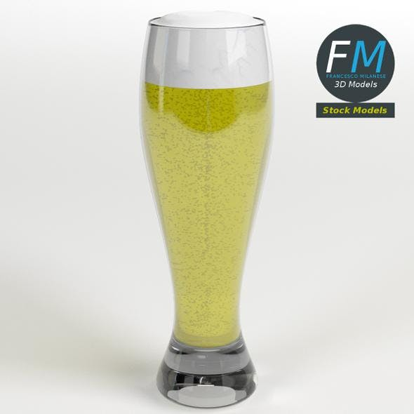 Glass with beer 10 - 3DOcean Item for Sale